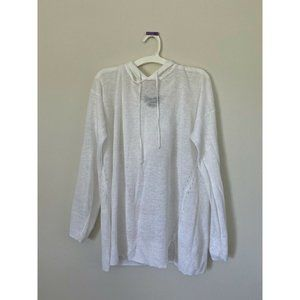 Tahari Linen Hoodie Sweater Size Large